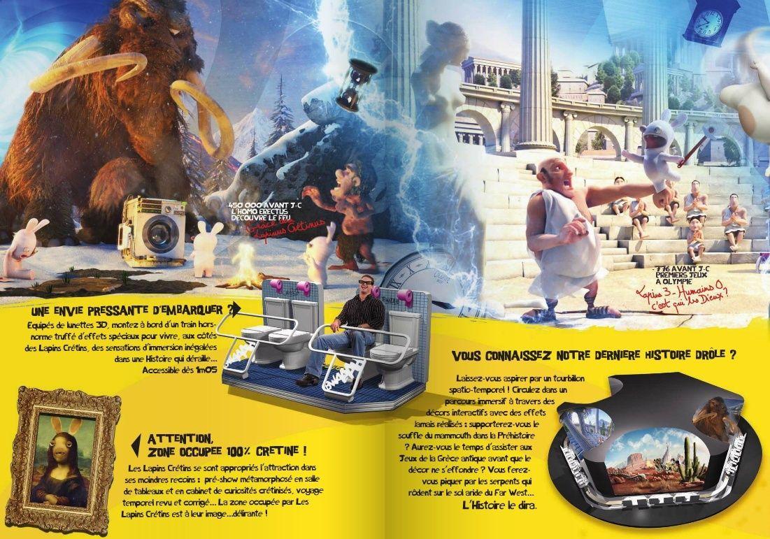Ils debwaaarquent Les Lapins Cretins Futuroscope Brochure CE