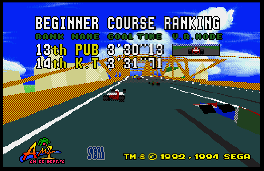 Virtua Racing Megadrive 2