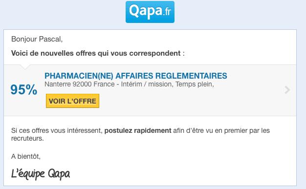 Merci Qapa mais je suis Chef de Projet Web / Community Manager ...