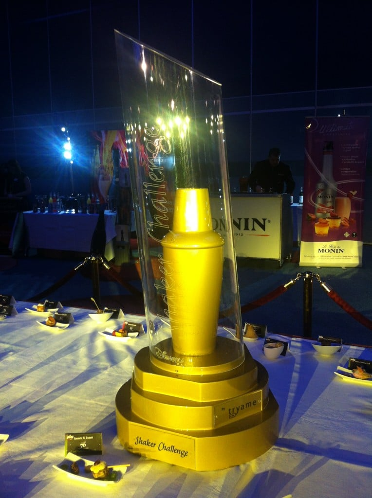Le Shaker Challenge. Ici le grand trophée conçu par la société Tryame