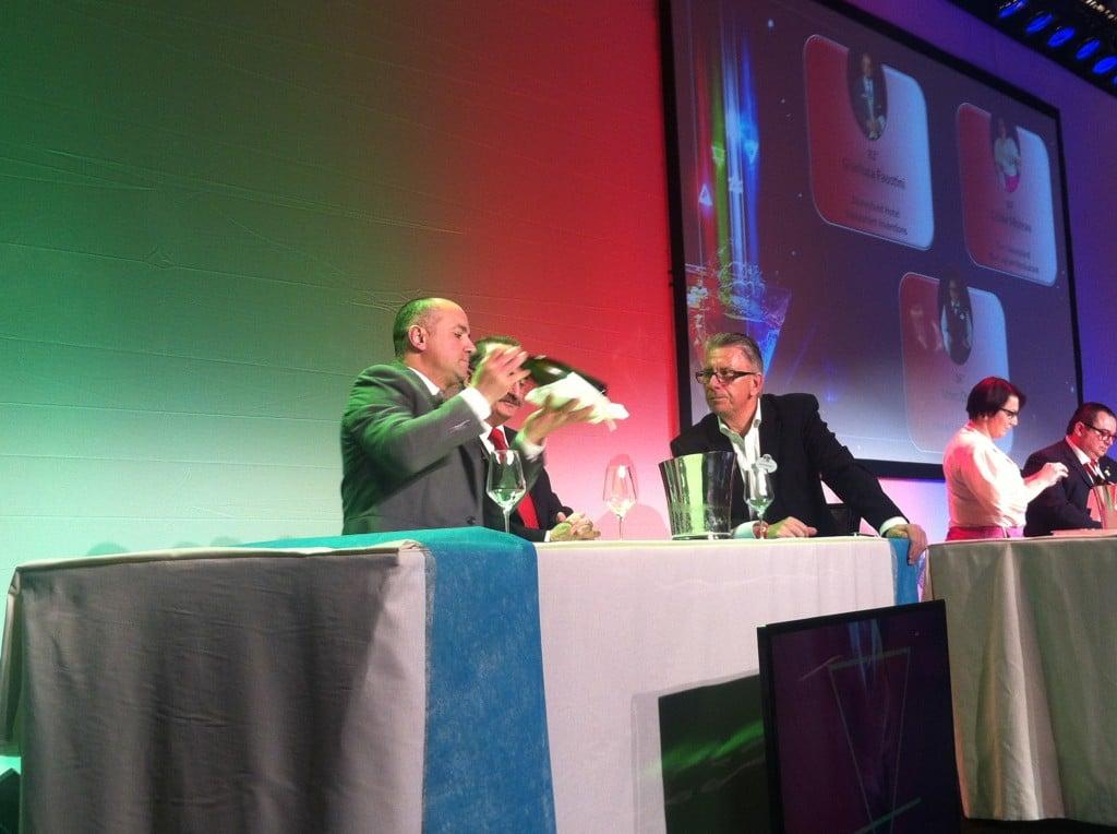 """Gianluca des Inventions (Disneyland Hotel) en action lors de """"Wine Experience"""""""