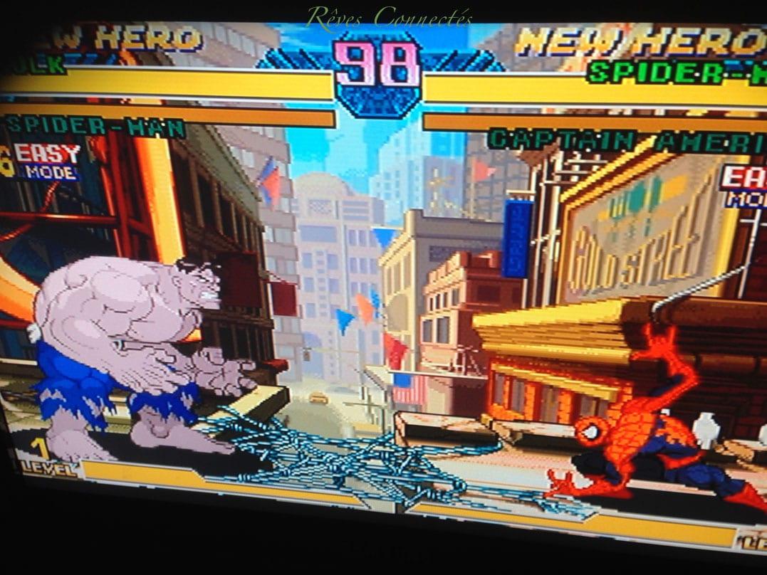 Marvel vs Capcom sur Dreamcast. Deux jeux très fun indémodables.