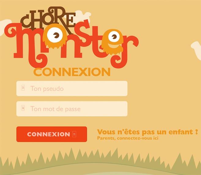 Chore-Monster-Connexion-enfants
