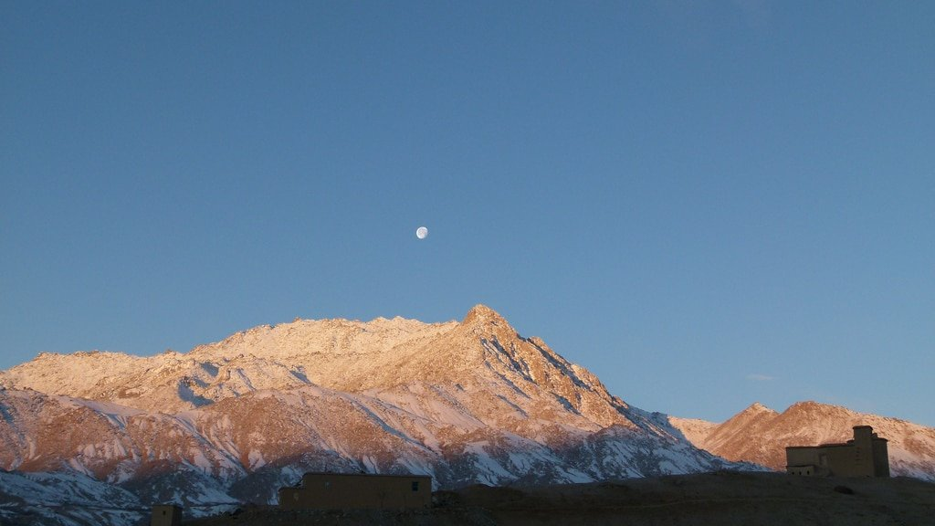 Flickr Creative Commons : United Nations Photo High Moon over Nili Afghanistan