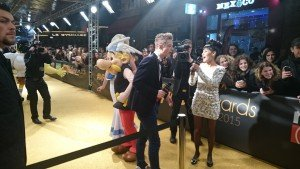 Astérix & Falbala sur le Golden Carpet des MFA 2015