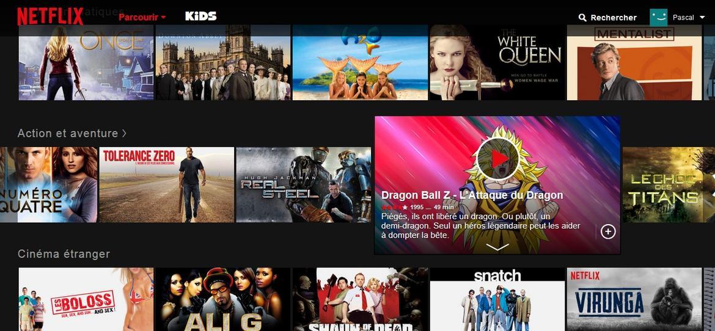 Catalogue Netflix Dragon Ball Z l'attaque du dragon