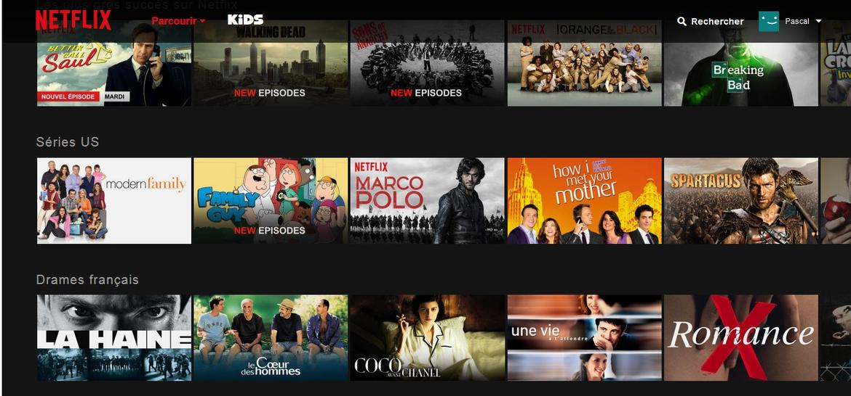 Catalogue Netflix