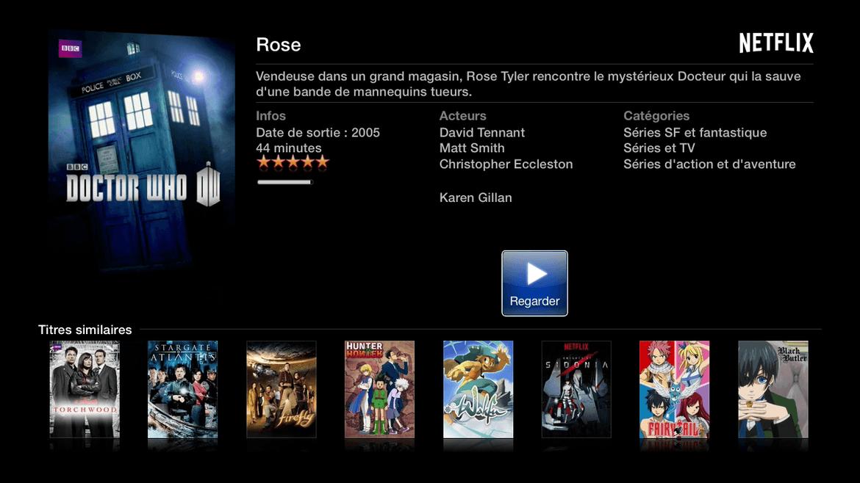 Apple TV lancement de l'épisode. Seul truc à savoir : maintenir le bouton central pour changer langue et sous titres.