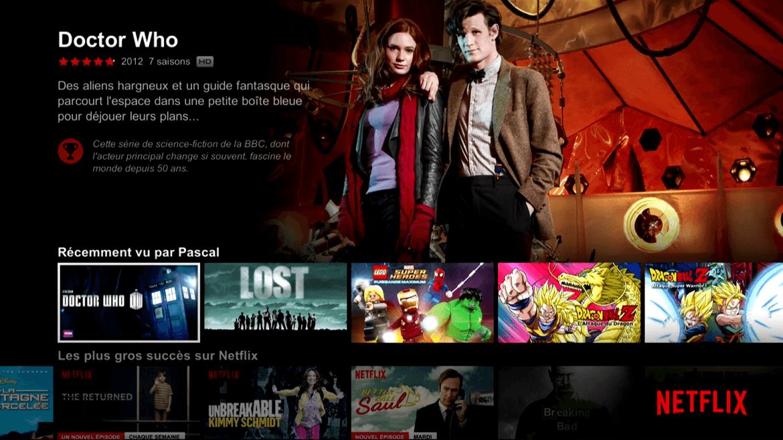 Netflix recommande des séries liées ou nous rappelle ce que l'on a aimé.