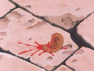 L'oreille de Cassios Scène censurée dans la vf