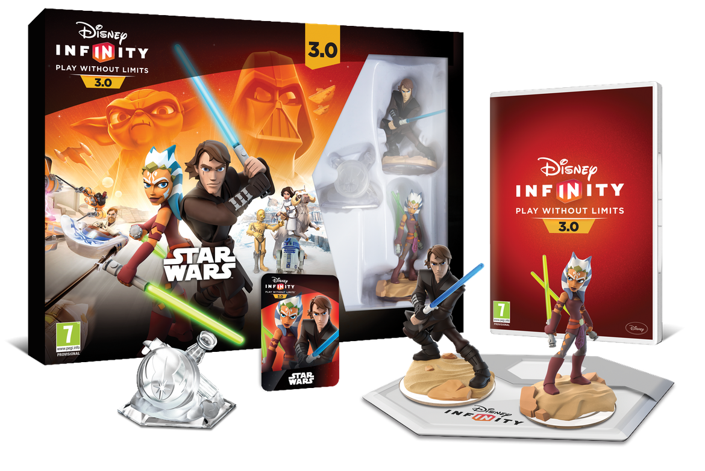 Disney Infinity 30 Star Wars INF3_SW_StarterPack_EMEA_Exploded