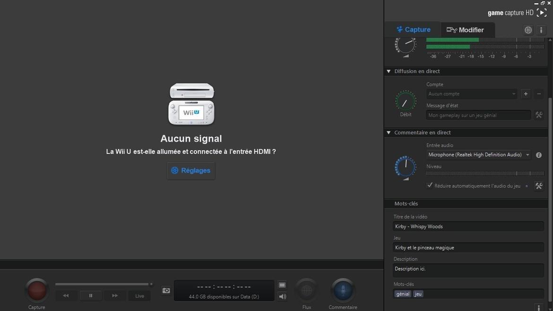 Elgato Game Capture HD Aucun signal