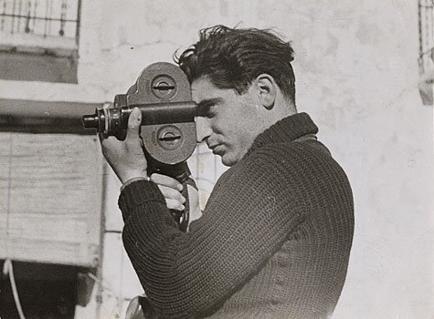 Photographer Robert Capa during the Spanish civil war, May 1937. Photo by Gerda Taro.