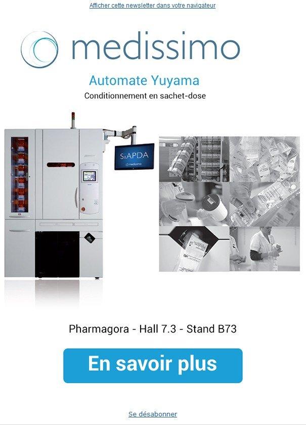 L'emailing que nous avons adressé au sujet de Pharmagora et de l'automate