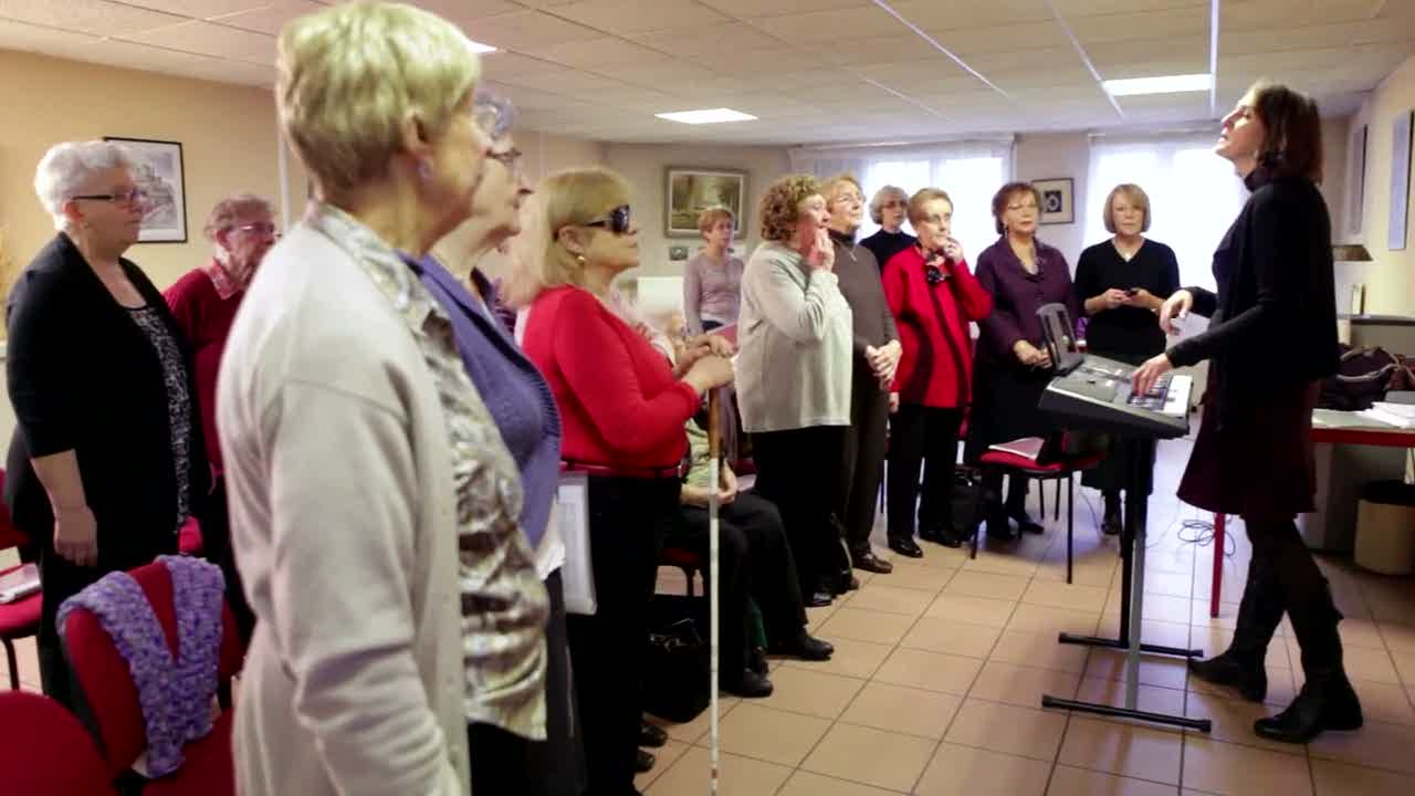 la chorale, les anciennes jeunes