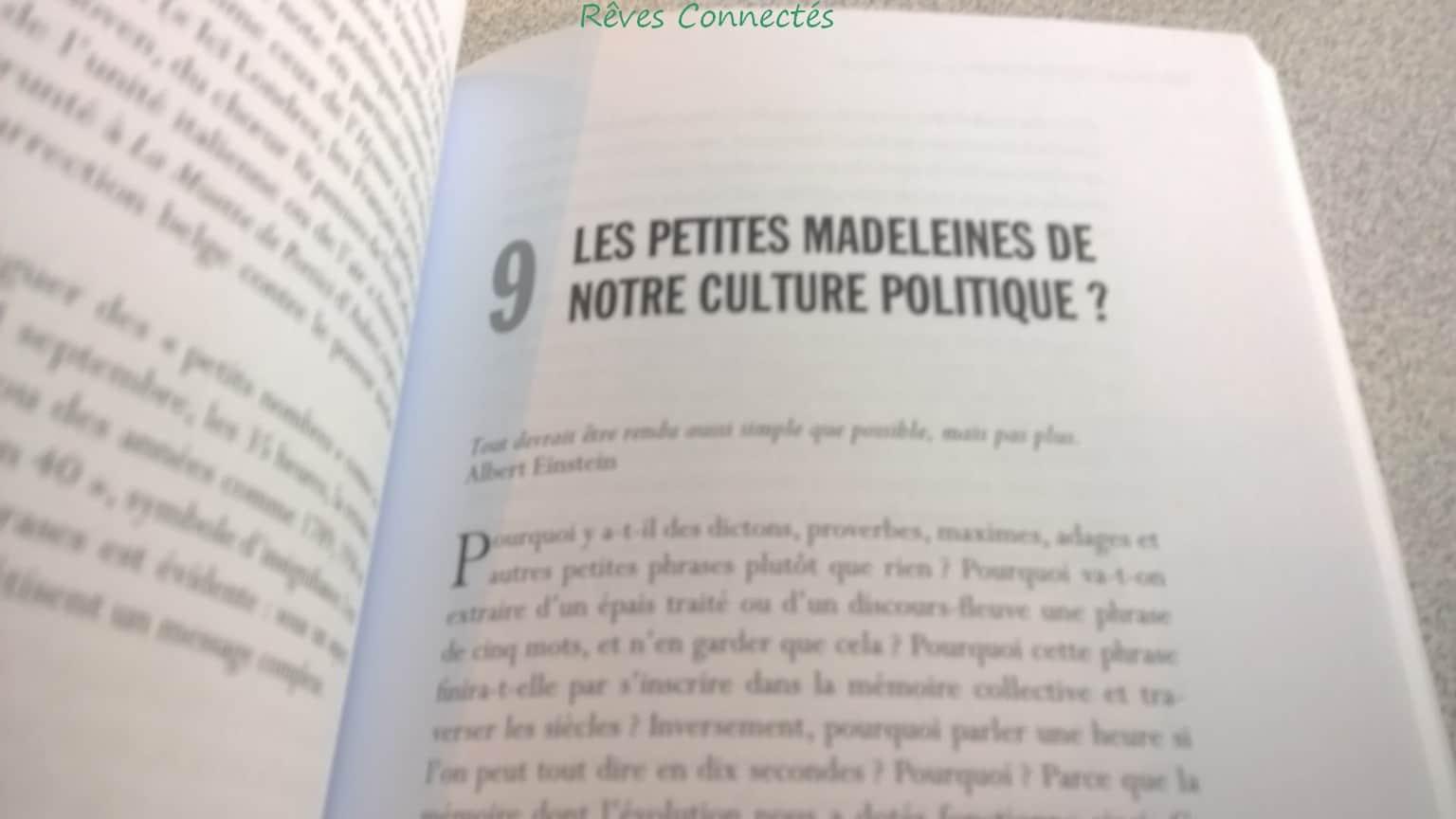 """""""Les petites madeleines de notre culture politique ?"""""""
