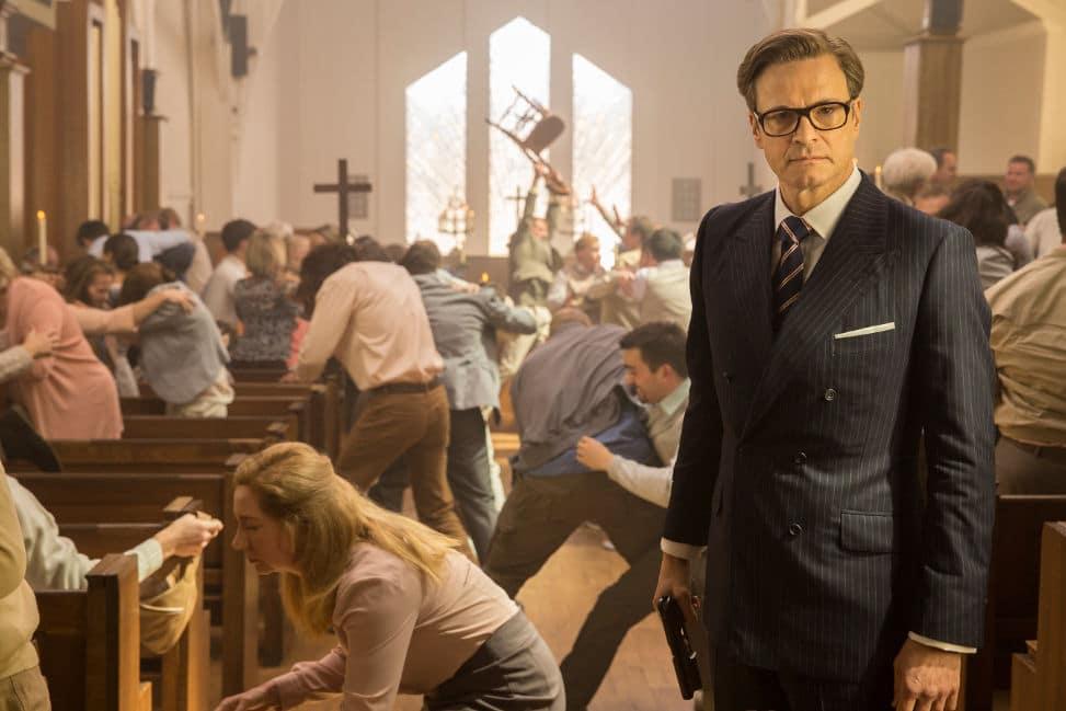 Harry Hart / Galahad (Colin Firth) en pleine folie
