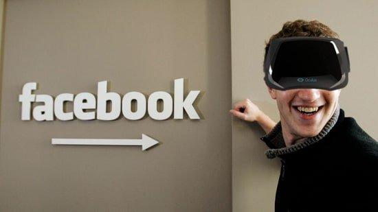 Mark Zuckerberg et sa récente acquisition l'Oculus Rift.