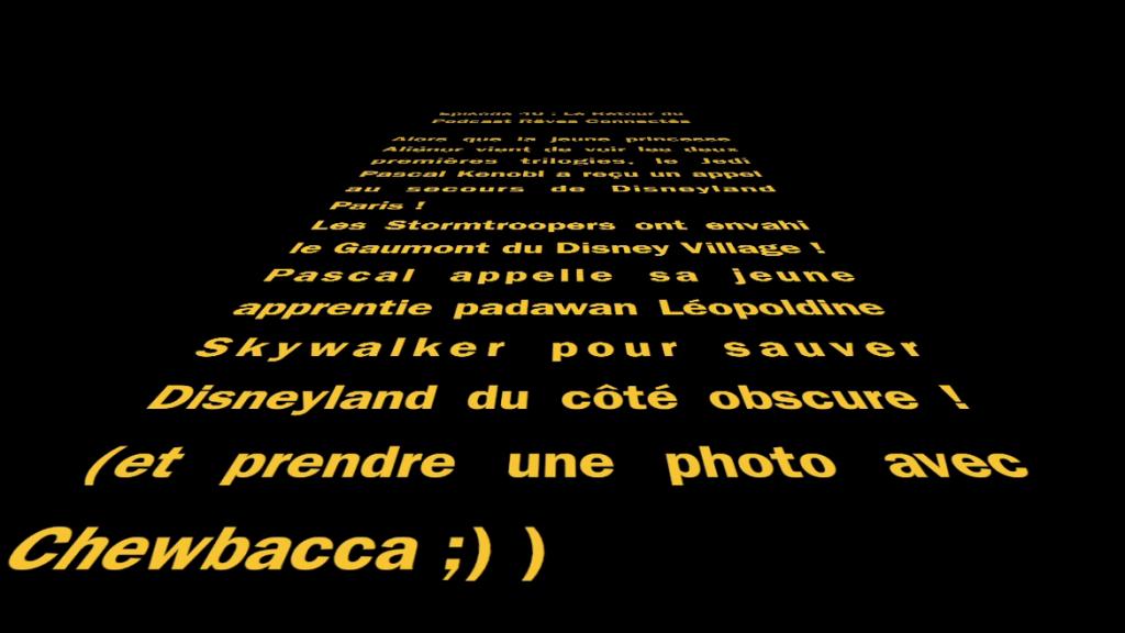 Star Wars Le Reveil de la Force. Le générique