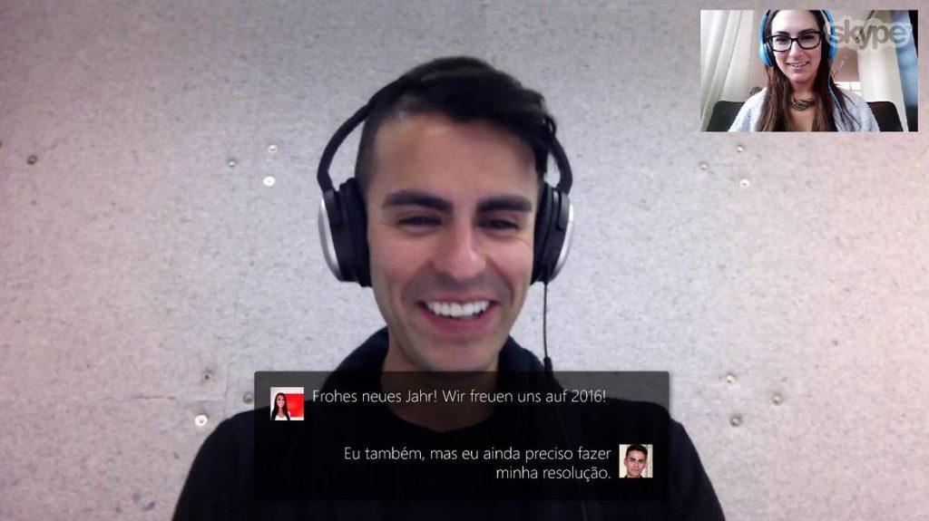 Skype traduction instantanée