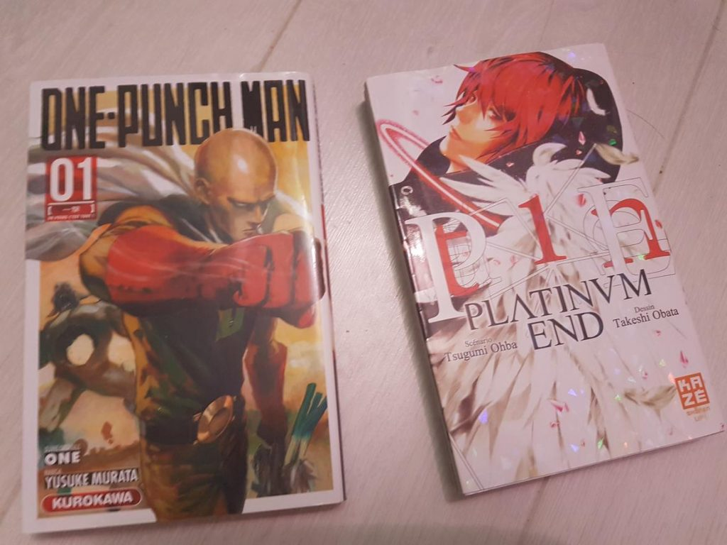 Les volumes reliés de One Punch man et Platinum End