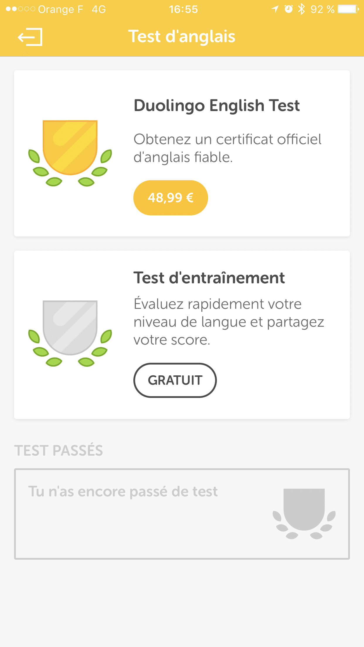 Duolingo-English-test
